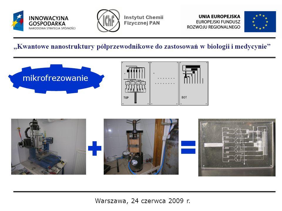 Kwantowe nanostruktury półprzewodnikowe do zastosowań w biologii i medycynie Instytut Chemii Fizycznej PAN Warszawa, 24 czerwca 2009 r. mikrofrezowani