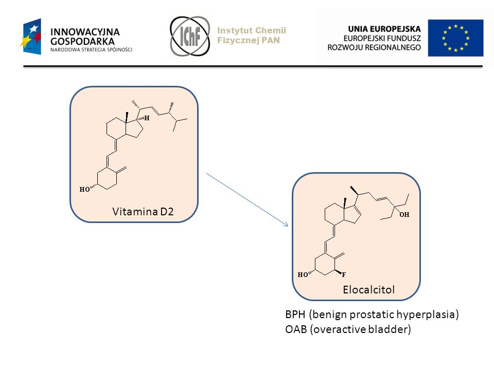 Vitamina D2 Elocalcitol Instytut Chemii Fizycznej PAN BPH (benign prostatic hyperplasia) OAB (overactive bladder)