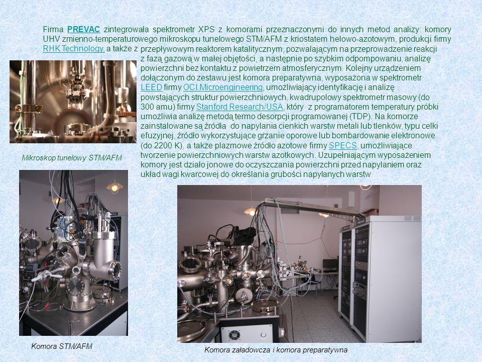 Firma PREVAC zintegrowała spektrometr XPS z komorami przeznaczonymi do innych metod analizy: komory UHV zmienno-temperaturowego mikroskopu tunelowego