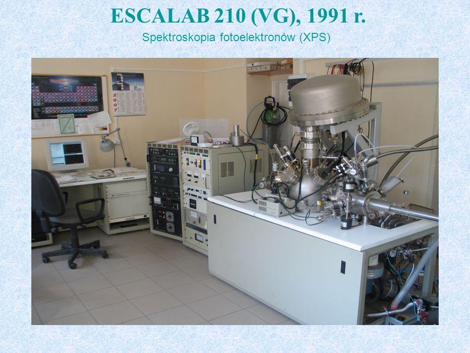 t ESCALAB 210 (VG), 1991 r. Spektroskopia fotoelektronów (XPS)