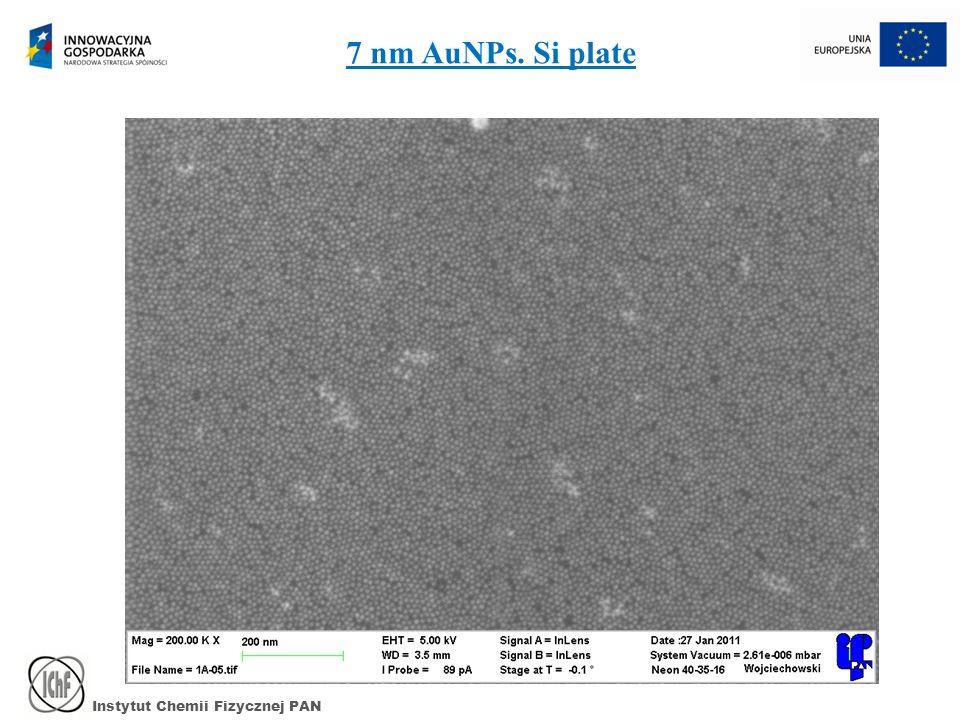 Instytut Chemii Fizycznej PAN 7 nm AuNPs. Si plate