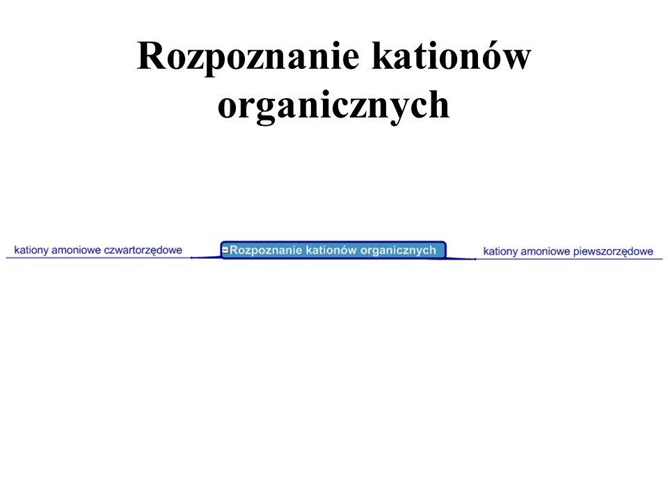 Rozpoznanie kationów organicznych