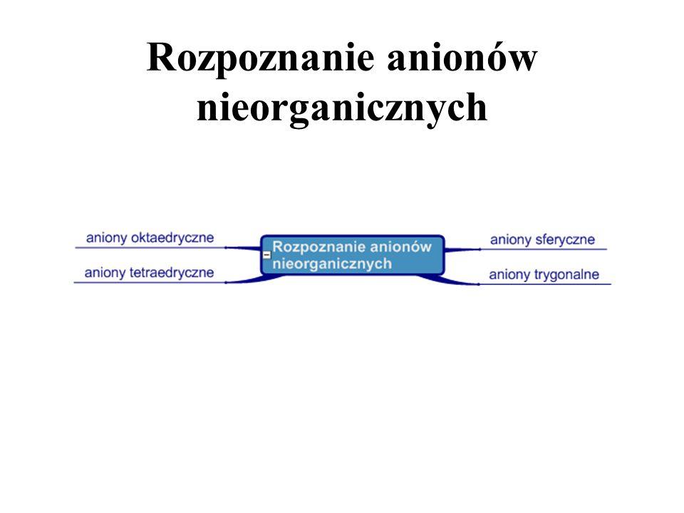 Rozpoznanie anionów nieorganicznych