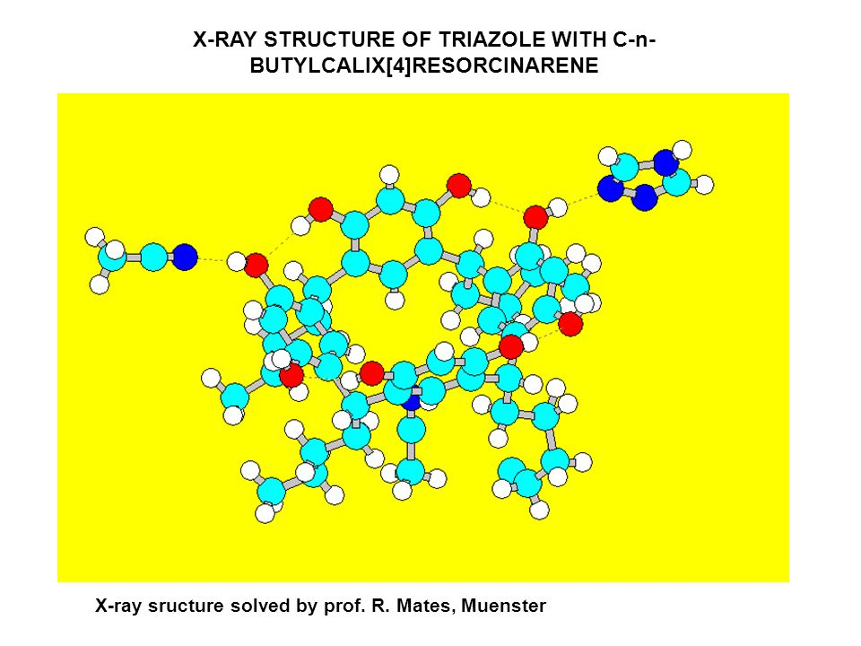 X-RAY STRUCTURE OF TRIAZOLE WITH C-n- BUTYLCALIX[4]RESORCINARENE X-ray sructure solved by prof. R. Mates, Muenster