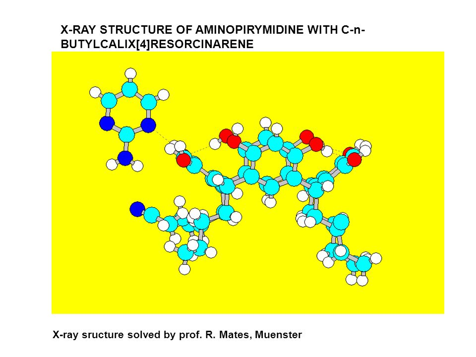 X-RAY STRUCTURE OF AMINOPIRYMIDINE WITH C-n- BUTYLCALIX[4]RESORCINARENE X-ray sructure solved by prof. R. Mates, Muenster