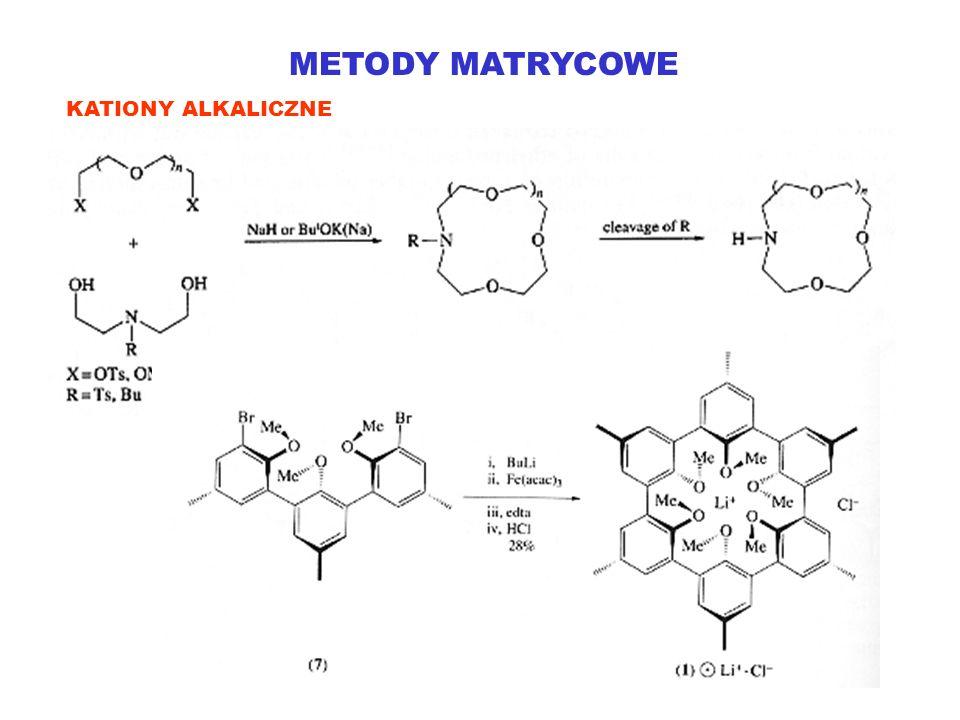 METODY MATRYCOWE KATIONY ALKALICZNE