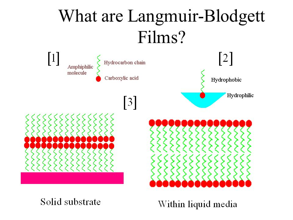 Langmuir-Blodgett Films LB technique provides a window to nanotechnology: manufacture of nanoscale structures with relatively conventional equipment.