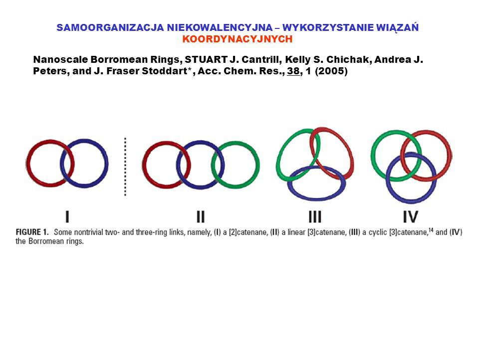 SAMOORGANIZACJA NIEKOWALENCYJNA – WYKORZYSTANIE WIĄZAŃ KOORDYNACYJNYCH Nanoscale Borromean Rings, STUART J. Cantrill, Kelly S. Chichak, Andrea J. Pete