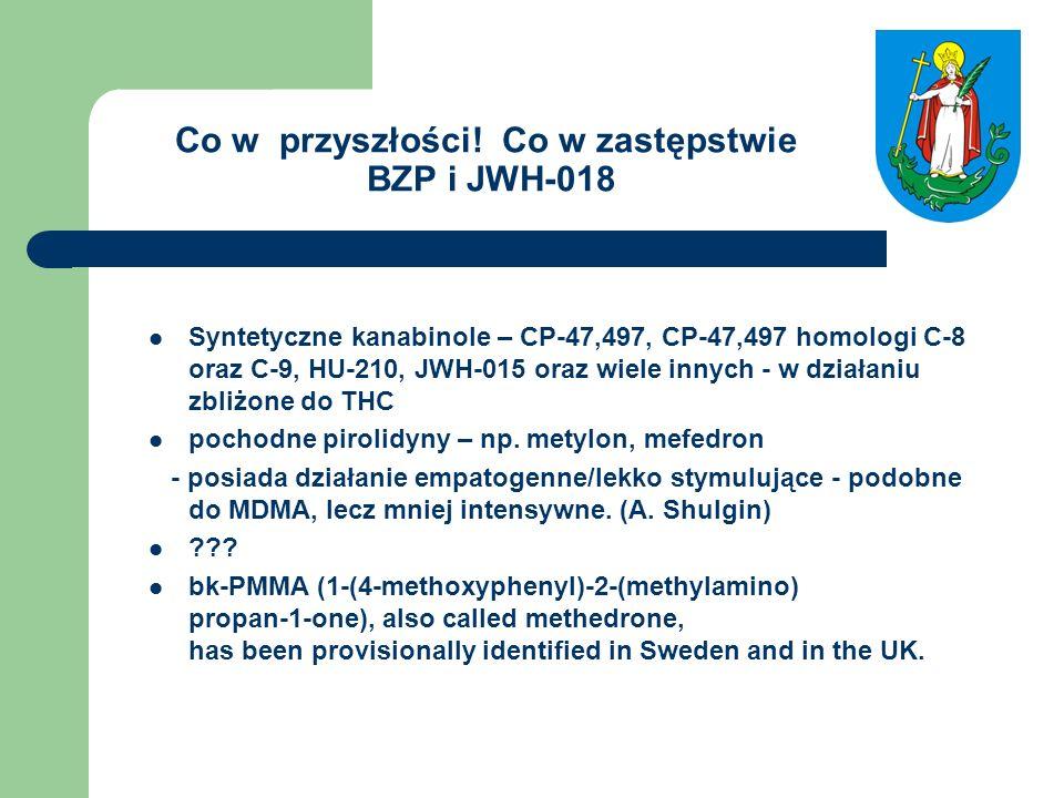 Co w przyszłości! Co w zastępstwie BZP i JWH-018 Syntetyczne kanabinole – CP-47,497, CP-47,497 homologi C-8 oraz C-9, HU-210, JWH-015 oraz wiele innyc