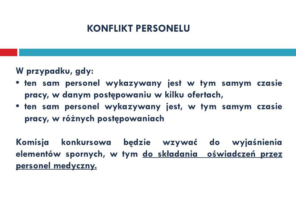 Warunki deklarowane w ofercie - § 11 Zarządzenia Nr 71/2012/DSOZ Prezesa NFZ z dnia 7.11.2012 r.