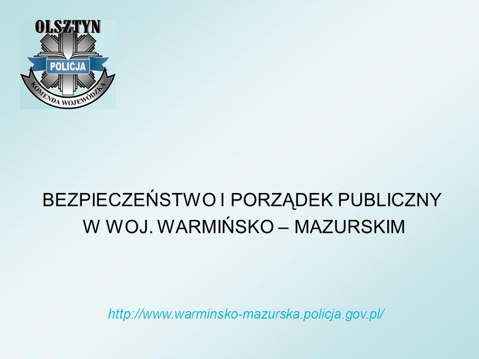 BEZPIECZEŃSTWO I PORZĄDEK PUBLICZNY W WOJ. WARMIŃSKO – MAZURSKIM http://www.warminsko-mazurska.policja.gov.pl/