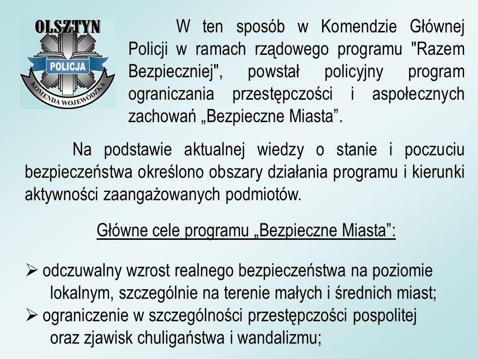 W ten sposób w Komendzie Głównej Policji w ramach rządowego programu