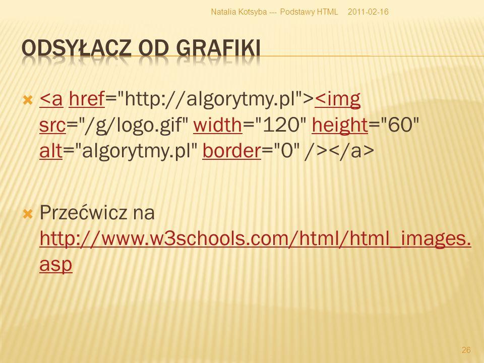 <ahref<img srcwidthheight altborder Przećwicz na http://www.w3schools.com/html/html_images.