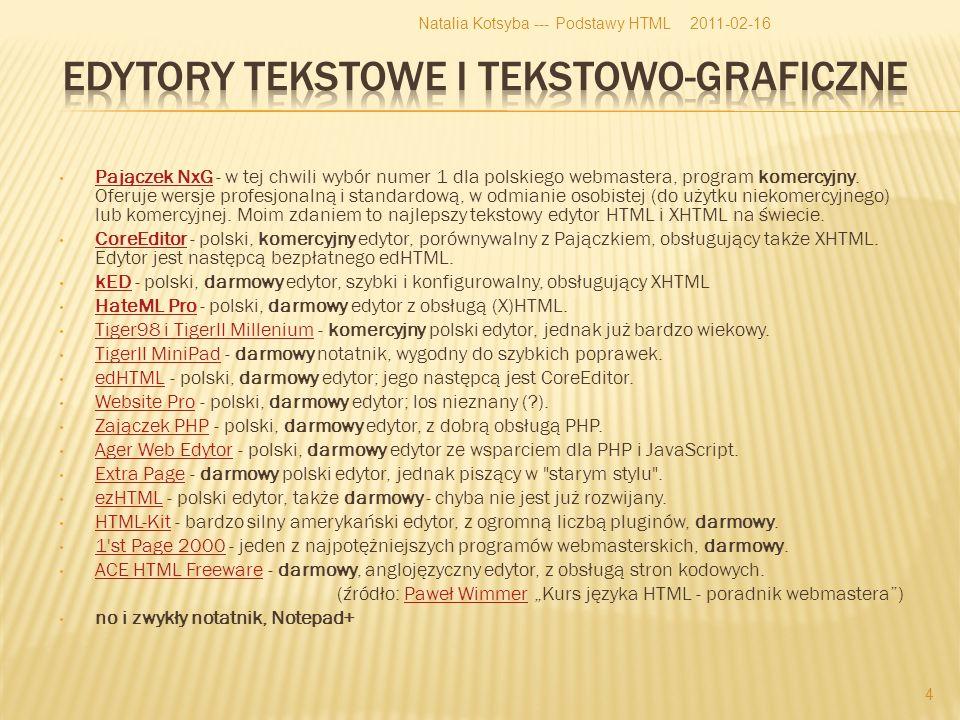 Pajączek NxG - w tej chwili wybór numer 1 dla polskiego webmastera, program komercyjny.