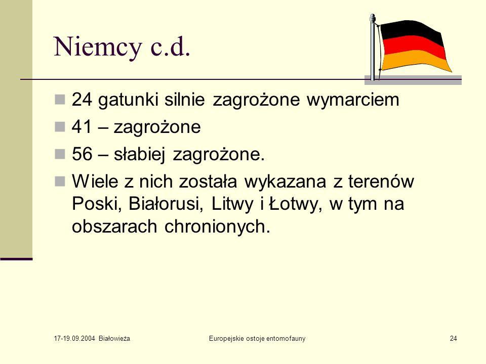 17-19.09.2004 Białowieża Europejskie ostoje entomofauny24 Niemcy c.d.