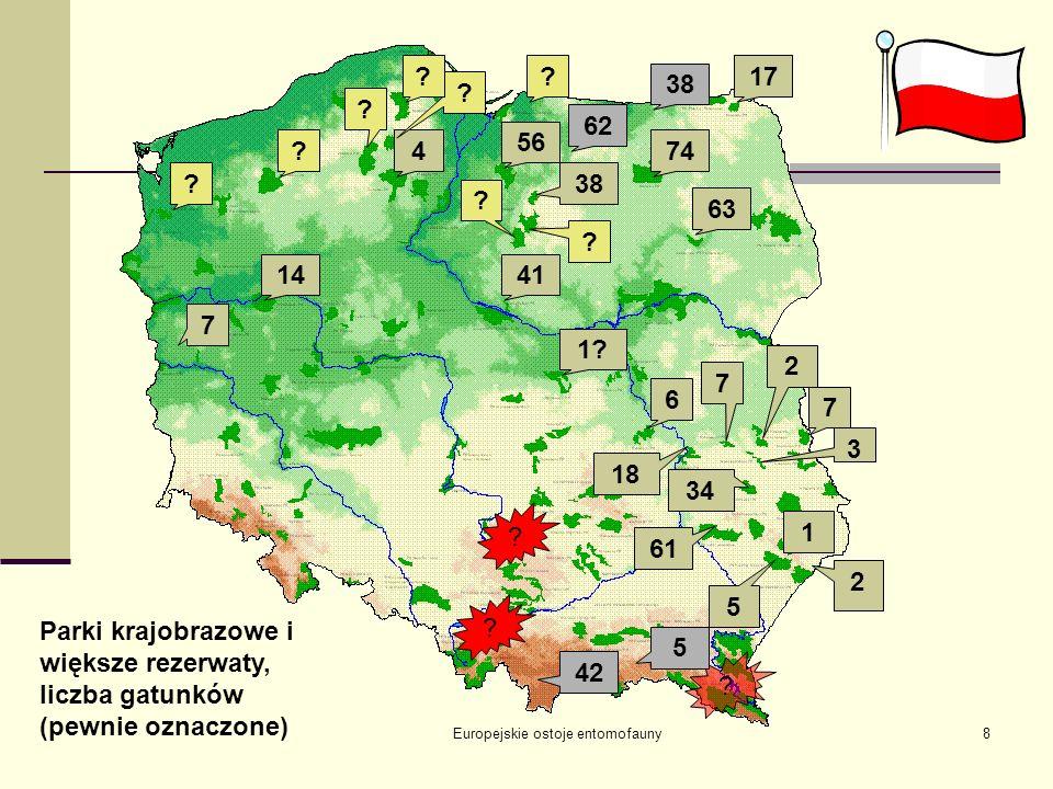 17-19.09.2004 Białowieża Europejskie ostoje entomofauny19 Łotwa (Trichoptera) Ochrona obszarowa – 9% republiki 4 rezerwaty ścisłe, 3 parki narodowe, 1 rezerwat biosfery, 25 parków regionalnych, 6 parków krajobrazowych, ok.