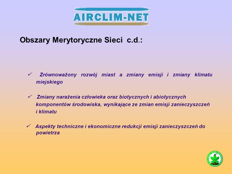 Tematy badawcze: Ozon przyziemny – aspekty globalne, regionalne i lokalne.