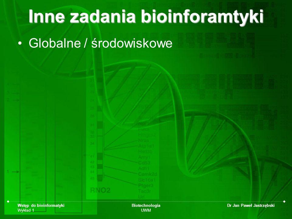 Wstęp do bioinformatyki Wykład 1 Biotechnologia UWM Dr Jan Paweł Jastrzębski mitochondrialna Ewa