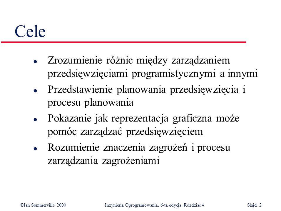 ©Ian Sommerville 2000Inżynieria Oprogramowania, 6-ta edycja.