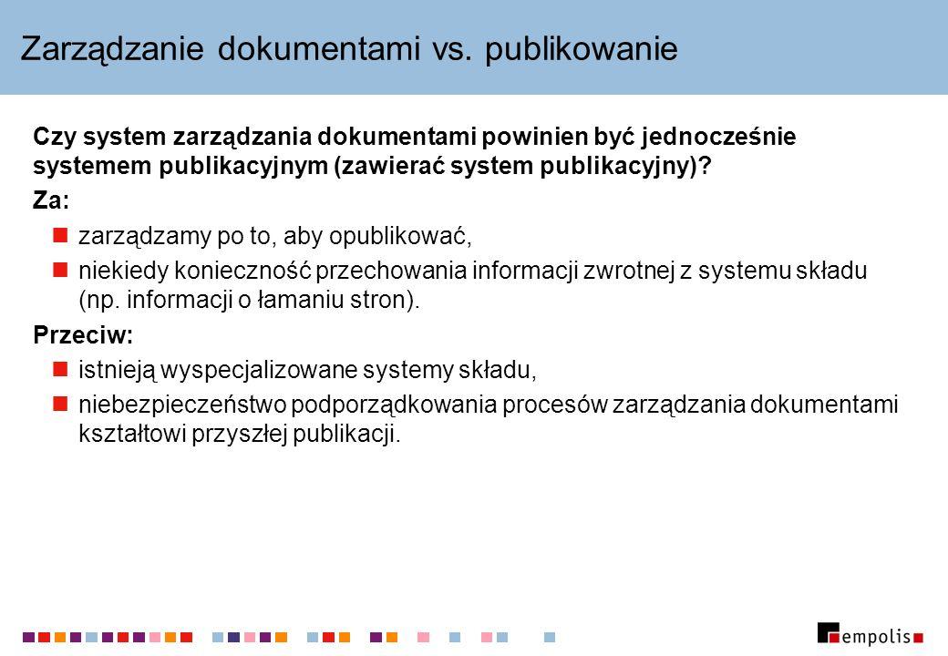 Zarządzanie dokumentami vs.