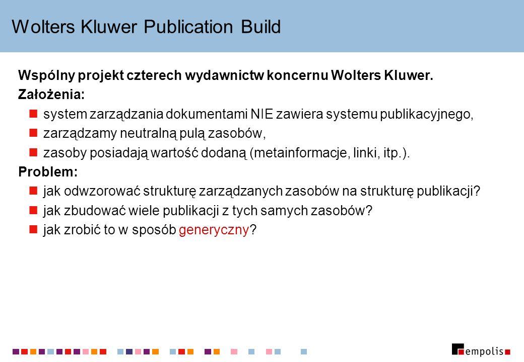 Wolters Kluwer Publication Build Wspólny projekt czterech wydawnictw koncernu Wolters Kluwer.