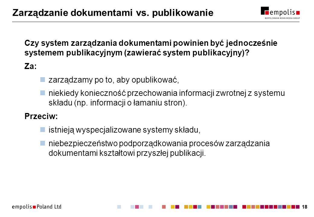 18 Zarządzanie dokumentami vs.