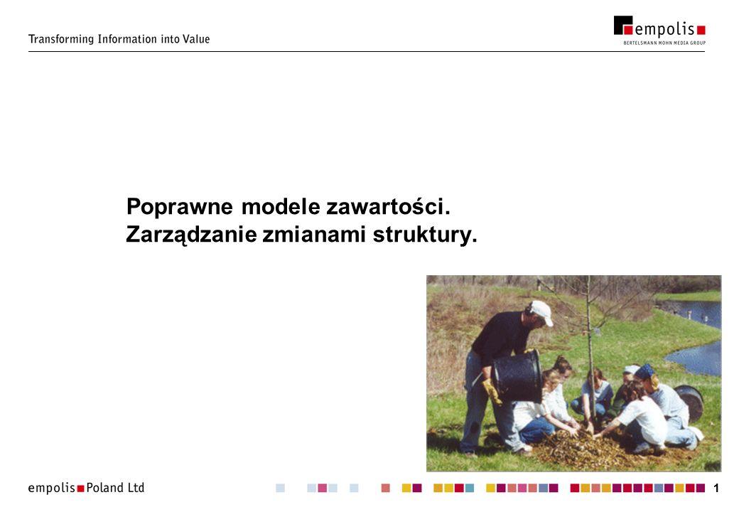 11 Poprawne modele zawartości. Zarządzanie zmianami struktury.
