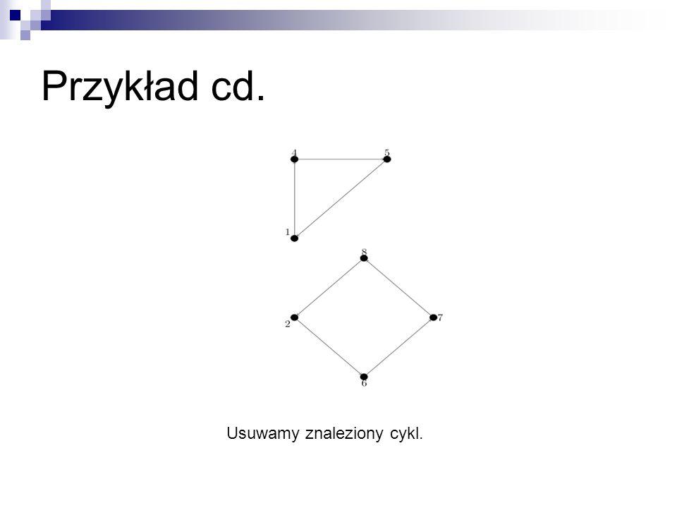 Przykład cd. Usuwamy znaleziony cykl.