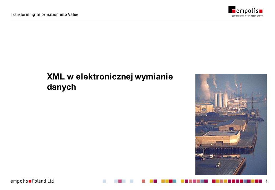 11 XML w elektronicznej wymianie danych