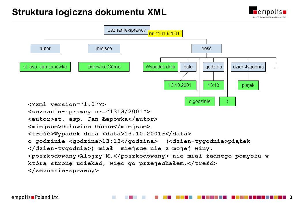 33 Struktura logiczna dokumentu XML st. asp.