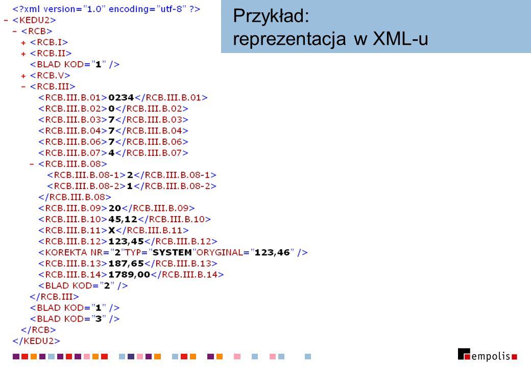 Przykład: reprezentacja w XML-u