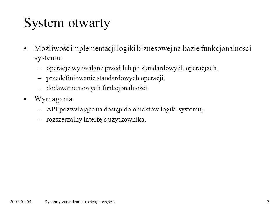 2007-01-04Systemy zarządzania treścią – część 214 Wydania / rewizje