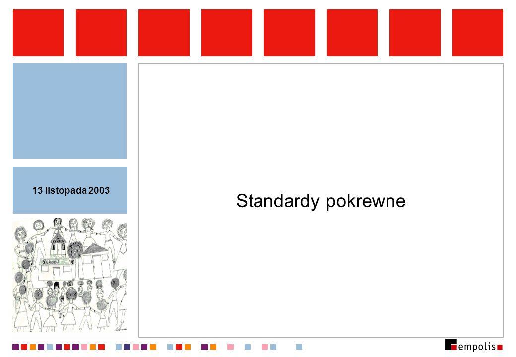 Standardy pokrewne 13 listopada 2003
