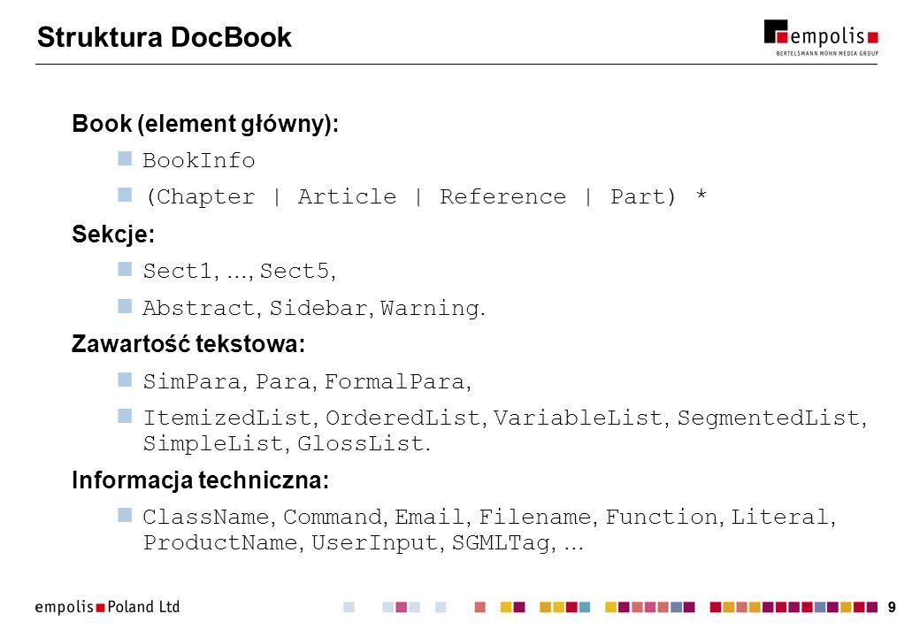 30 Bean Markup Language Pomysł: XML jako język konfiguracji komponentów w Javie (JavaBeans).