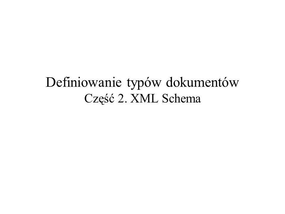 2004-10-21Definiowanie typów dokumentów – część 2: XML Schema2 Dlaczego DTD nie wystarcza.