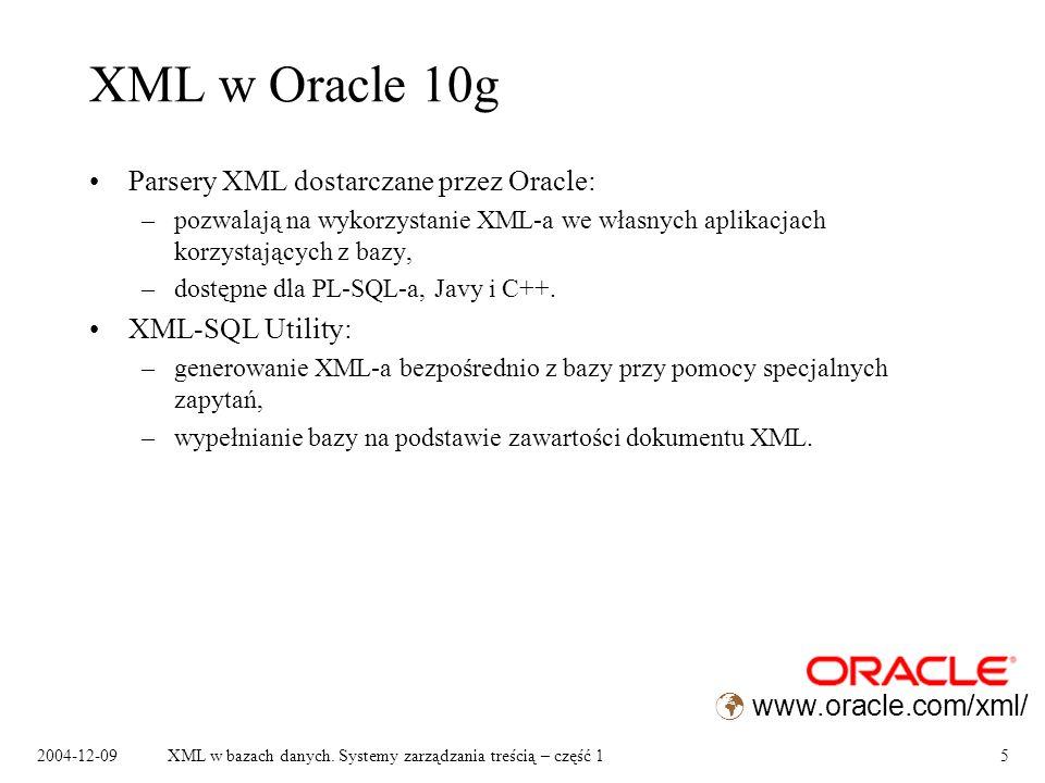 2004-12-09XML w bazach danych.