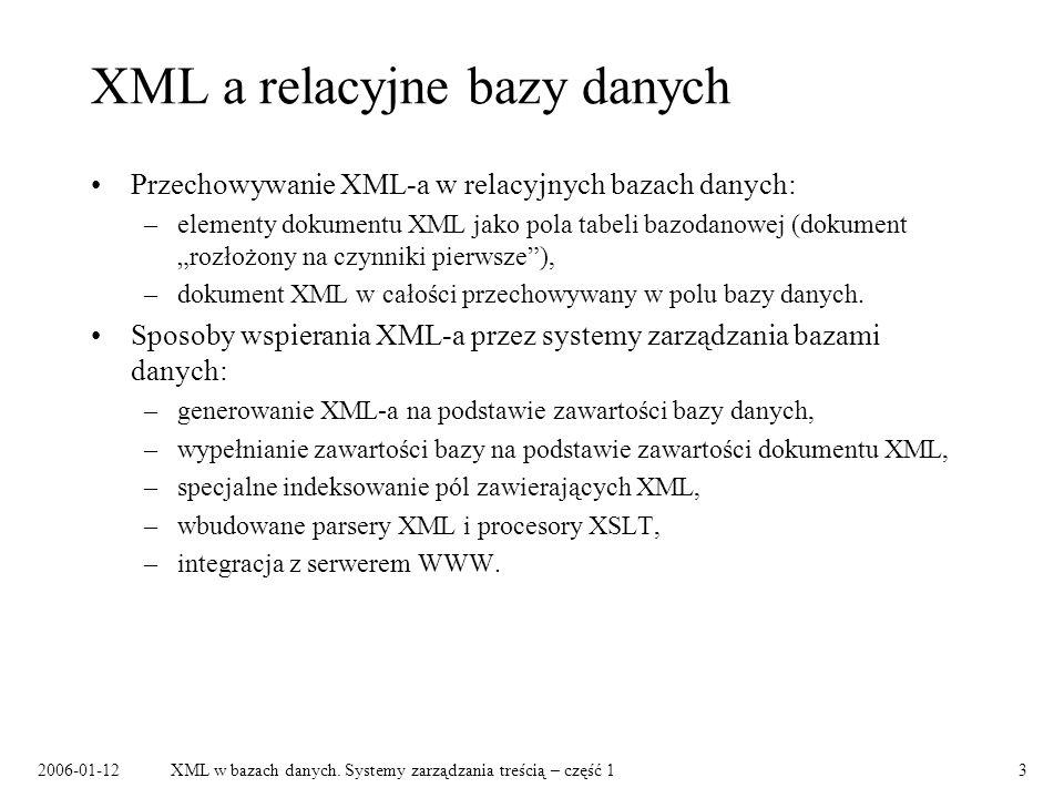 2006-01-12XML w bazach danych.