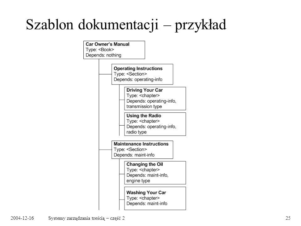 2004-12-16Systemy zarządzania treścią – część 225 Szablon dokumentacji – przykład