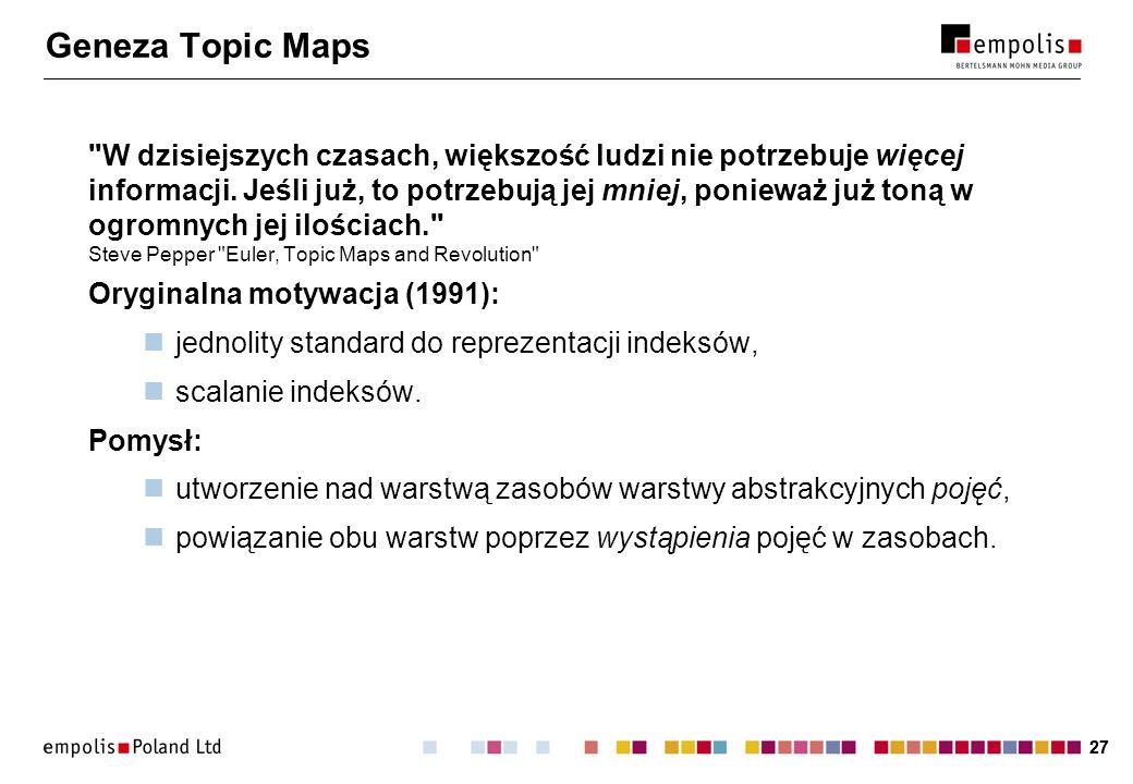 27 Geneza Topic Maps