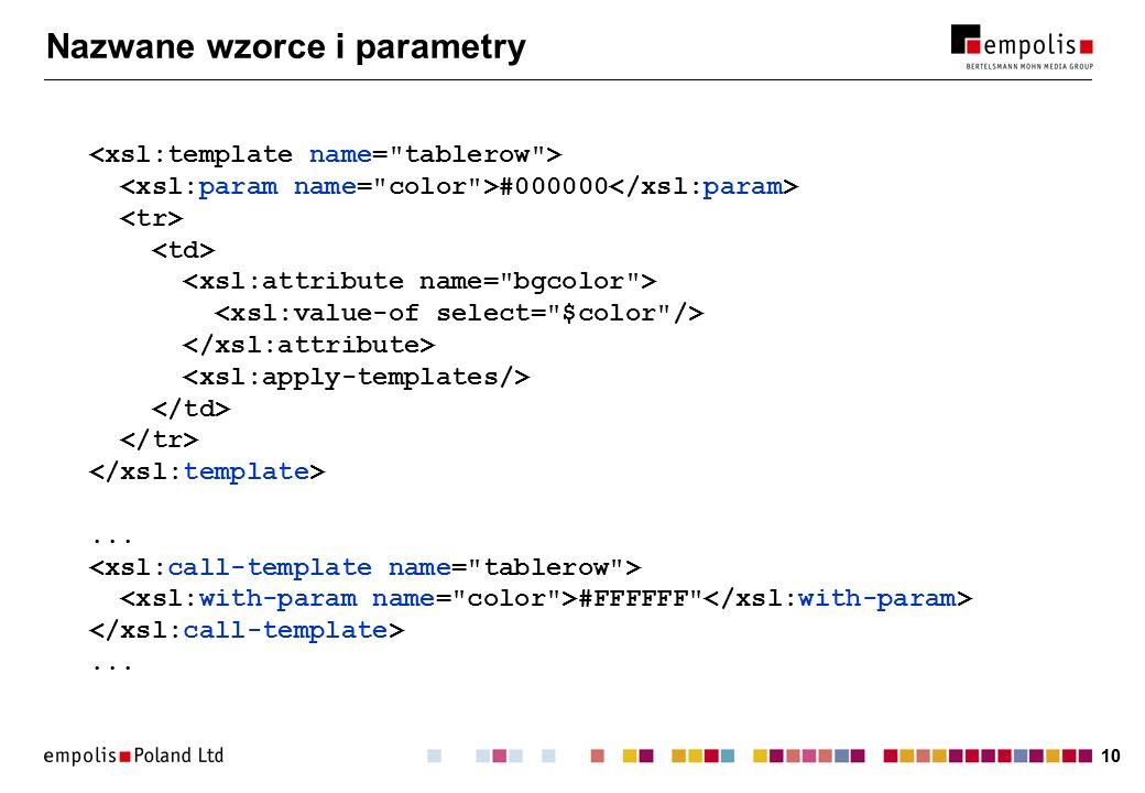 10 Nazwane wzorce i parametry #000000... #FFFFFF