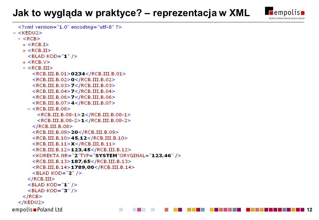 12 Jak to wygląda w praktyce? – reprezentacja w XML