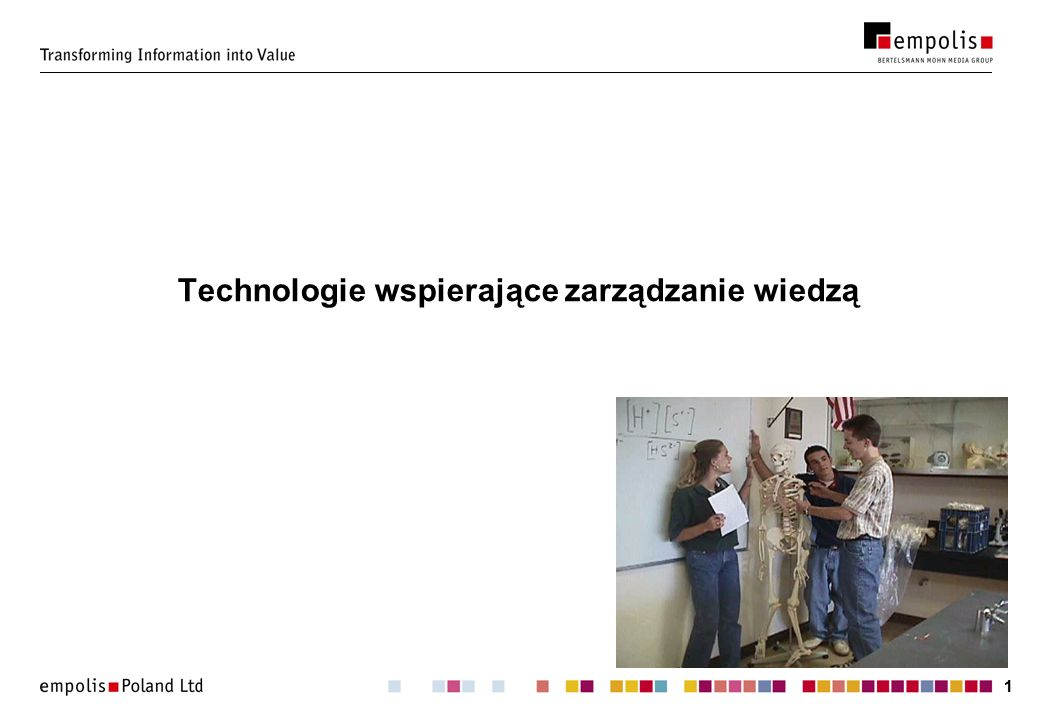 11 Technologie wspierające zarządzanie wiedzą