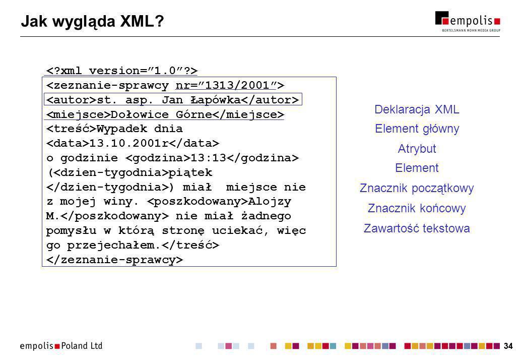 34 Jak wygląda XML. st. asp.