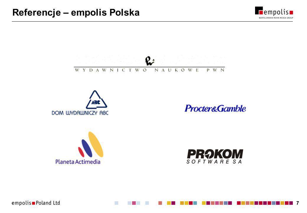 38 Dwie twarze XML-a Baza danych:Dokument tekstowy: Papier ryza 3 Szymon Zioło empolis Polska Wypadek dnia 13.01.2001 r.