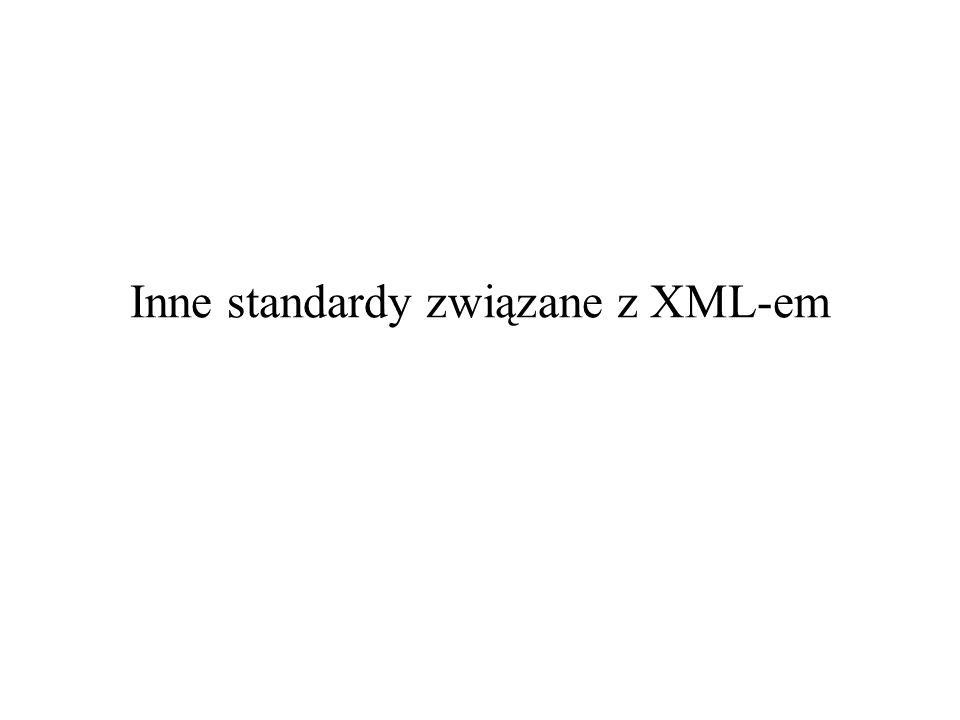 2006-11-30XSLT – część 22 XPath 2.0 / XSLT 2.0 / XQuery 1.0 XML Schema system typów XQuery 1.0 and XPath 2.0 Data Model XQuery 1.0 and XPath 2.0 Formal Semantics XSLT 2.0 and XPath 2.0 Serialization XQuery 1.0 and XPath 2.0 Functions and Operators XQuery 1.0XPath 2.0 XSLT 2.0 rozszerzeniekorzysta z XML Syntax for XQuery 1.0 (XQueryX) XQuery 1.0 and XPath 2.0 Full-Text rozszerzenie
