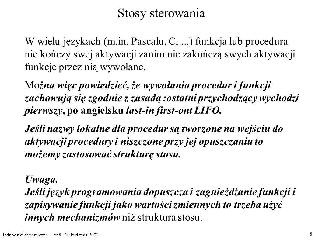 Stosy sterowania W wielu językach (m.in.