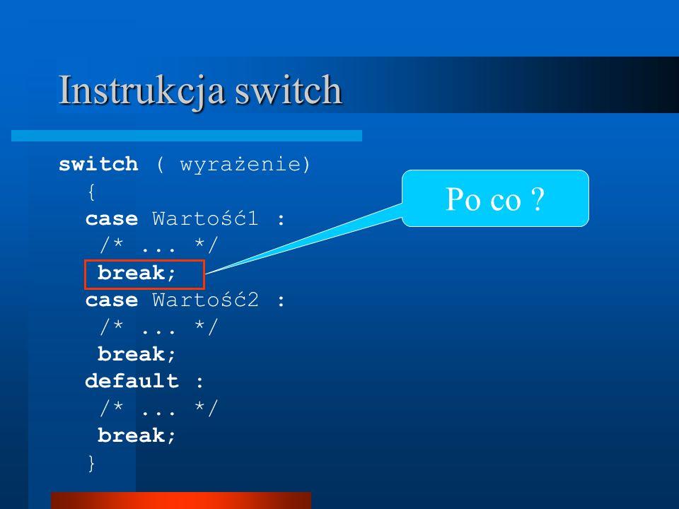 Pętla for Definicja for (wyr_1; wyr_logiczne; wyr_3) instrukcja Np.