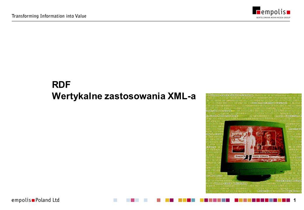 11 RDF Wertykalne zastosowania XML-a