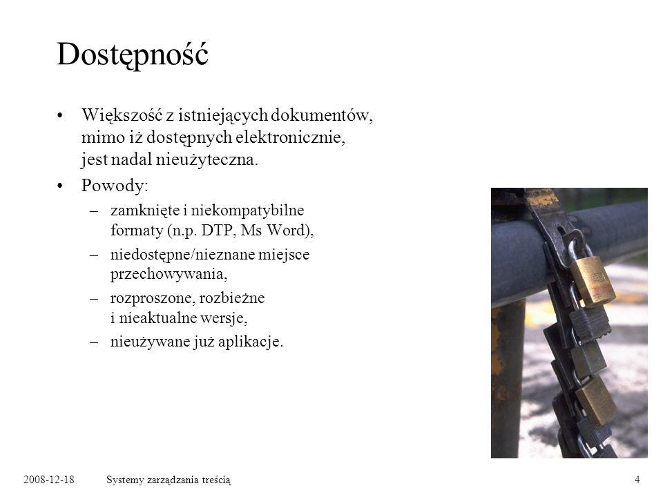 2008-12-18Systemy zarządzania treścią35 Planowanie zawartości encyklopedii – planning sheet