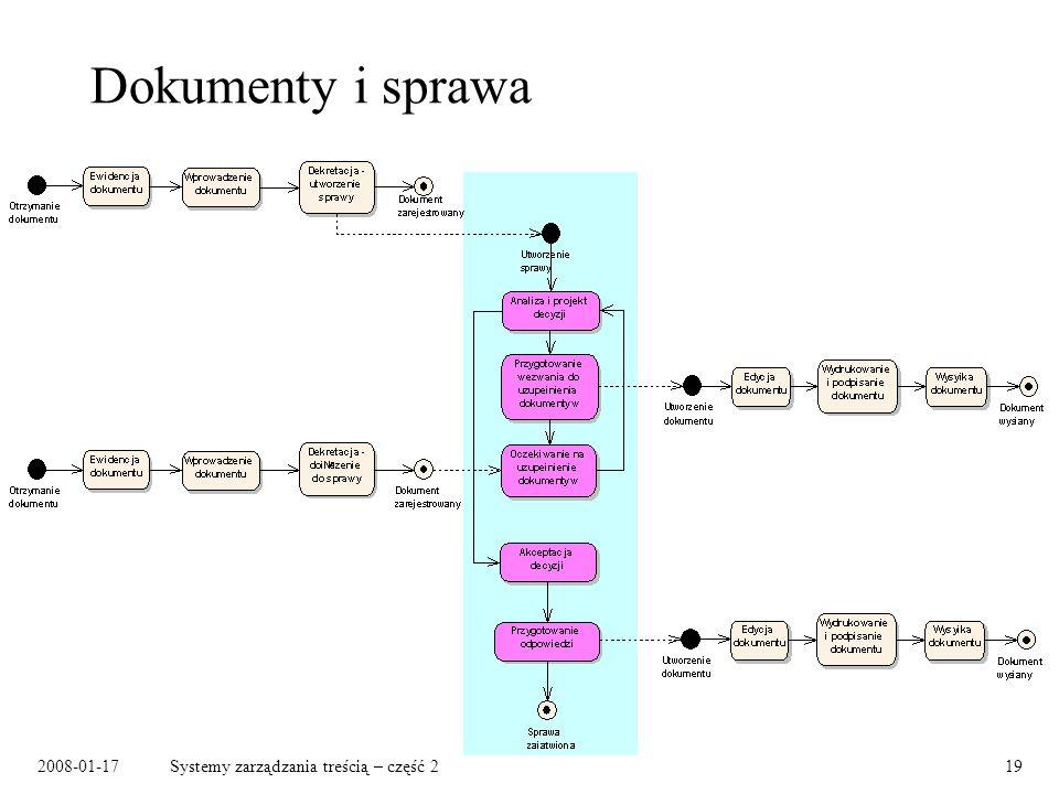2008-01-17Systemy zarządzania treścią – część 219 Dokumenty i sprawa